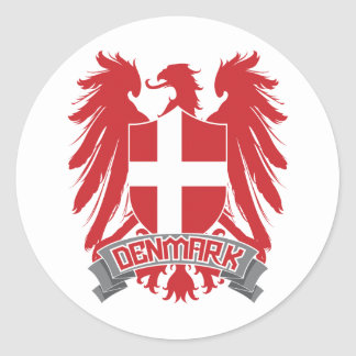 Dinamarca se fue volando pegatina redonda