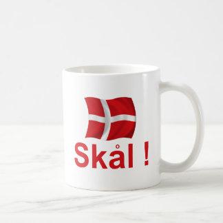 ¡Dinamarca Skal! Taza Básica Blanca