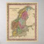 Dinamarca, Suecia, Noruega Posters