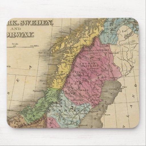 Dinamarca, Suecia, Noruega Tapetes De Ratones