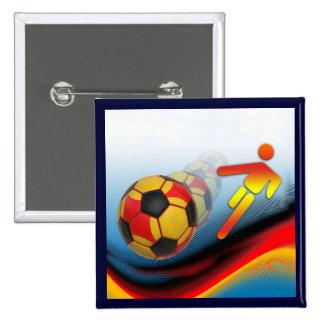 Dinámica del fútbol y del fútbol pin cuadrado