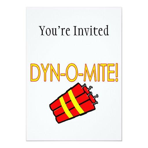 """Dinamita de Dynomite Invitación 5"""" X 7"""""""
