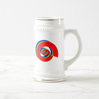 Dínamo del poder jarra de cerveza