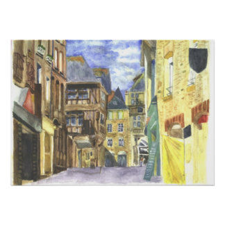 Dinan Medieval Town Centre Brittany Poster