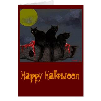 Dinar del dinar con la tarjeta de Halloween de los