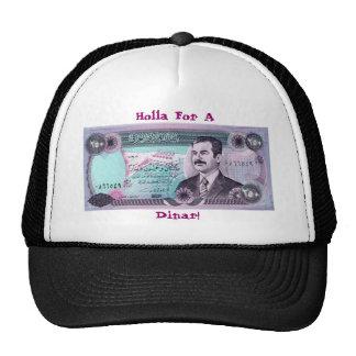 Dinar iraquí con Saddam Hussein Gorras De Camionero