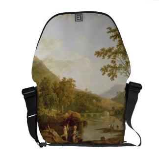 Dinas Bran from Llangollen, 1770-71 (oil on canvas Messenger Bags