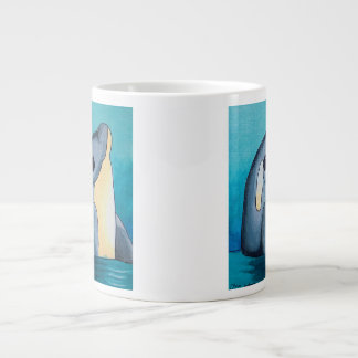 Dina's Dolphin Jumbo Mug 20 Oz Large Ceramic Coffee Mug