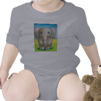 Dina's elephant baby outfit tees