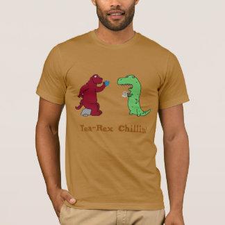dinasaurs Tea Rex chilling funny t-shirt design