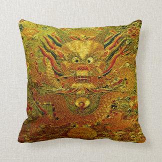 Dinastía de Ming china del bordado del dragón de Cojín