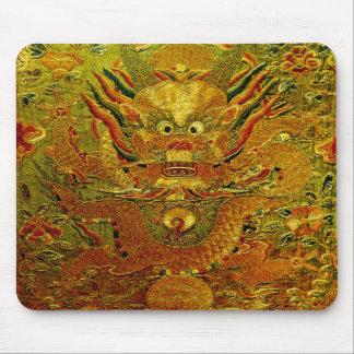 Dinastía de Ming china del bordado del dragón de o Mousepads