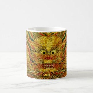Dinastía de Ming china del bordado del dragón de Taza Clásica
