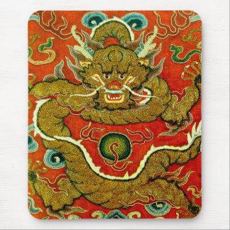 Dinastía de Qing china del bordado del dragón de o Mousepads