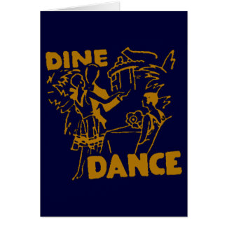 Dine And Dance Card