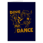 Dine And Dance Greeting Card