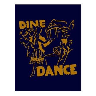 Dine And Dance Postcard