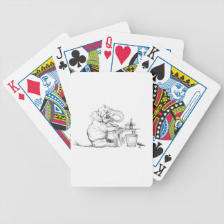 Dine Like An Elephant Illustration Playing Cards