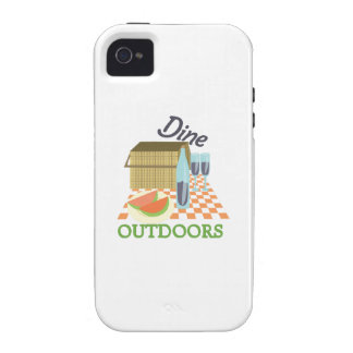 Dine Outdoors iPhone 4 Cover