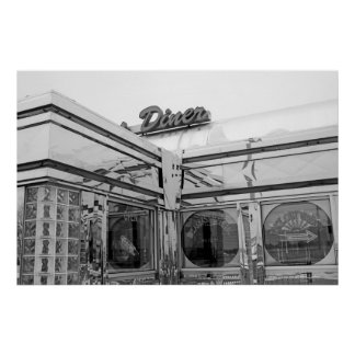 Diner 10 BW Posters