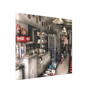 Diner - 1950's -  The Soda Fountain Canvas Prints