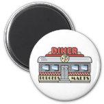 Diner 2 Inch Round Magnet
