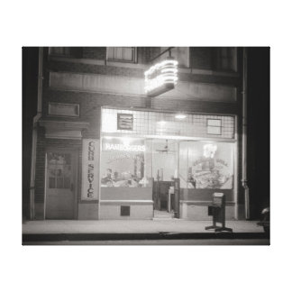 Diner at Night, 1940 Canvas Print