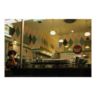 'Diner' canvas print