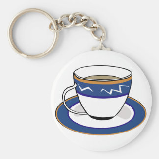 Diner Coffee Cup: Cute Image Keychain