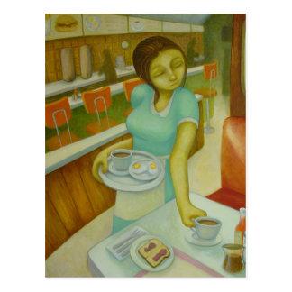 Diner Eggs Toast &Jelly Postcard