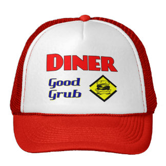 Diner Good Grub Hamburger Restaurant Art Mesh Hat