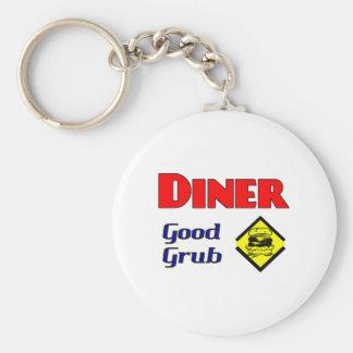 Diner Good Grub Hamburger Restaurant Art Keychains