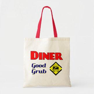 Diner Good Grub Hamburger Restaurant Art Tote Bag