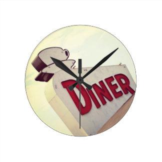 Diner Round Clock