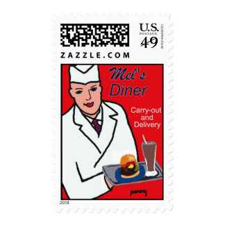 Diner Route 66 Postage