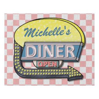Diner Sign Retro 50s Mid-Century Nostalgia Custom