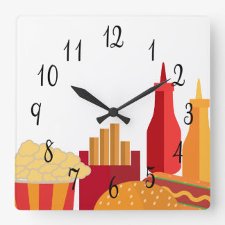 Diner Special Square Wall Clock
