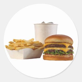 Diner Round Sticker