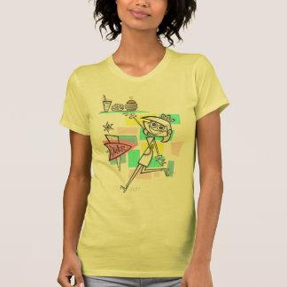 Diner Waitress on Roller Skates T-Shirt