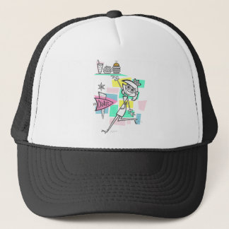 Diner Waitress on Roller Skates Trucker Hat