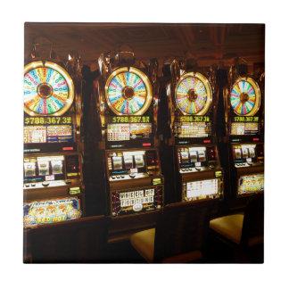 Dinero armado de juego Las Vegas del bandido de la Azulejo Cuadrado Pequeño