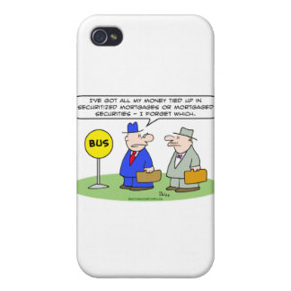 dinero asegurado seguridad de los hombres de negoc iPhone 4 funda