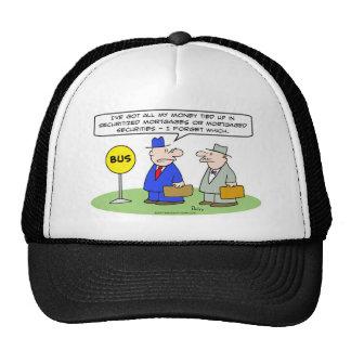 dinero asegurado seguridad de los hombres de negoc gorras