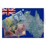 Dinero australiano felicitacion