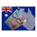 Dinero australiano tarjetón
