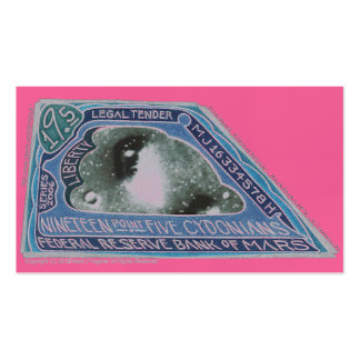 Dinero azul marciano $19,5 CYDONIANS de MJ12club* Tarjetas De Visita