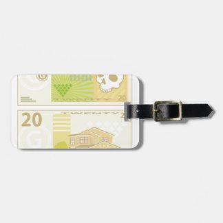 Dinero Bill Etiqueta De Maleta