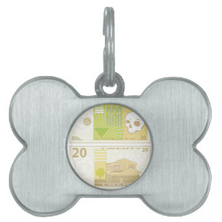 Dinero Bill Placa De Mascota