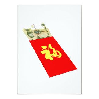 """Dinero chino invitación 5"""" x 7"""""""