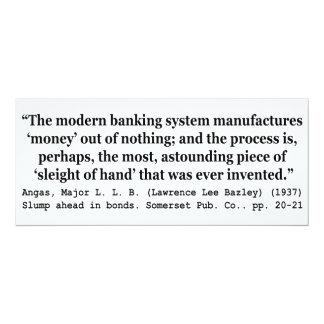 Dinero de la fabricación de los sistemas bancarios comunicado personalizado